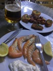 catalonian tapas - prawns & lamb